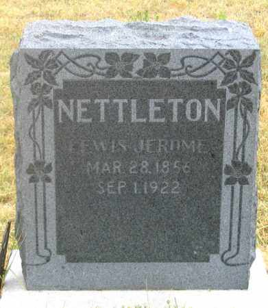 NETTLETON, LEWIS JEROME - Dundy County, Nebraska | LEWIS JEROME NETTLETON - Nebraska Gravestone Photos
