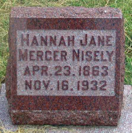 ALLEN NISELY, HANNAH JANE MERCER - Dundy County, Nebraska | HANNAH JANE MERCER ALLEN NISELY - Nebraska Gravestone Photos