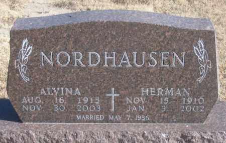 NORDHAUSEN, ALVINA - Dundy County, Nebraska | ALVINA NORDHAUSEN - Nebraska Gravestone Photos