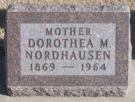 NORDHAUSEN, DOROTHEA M. - Dundy County, Nebraska | DOROTHEA M. NORDHAUSEN - Nebraska Gravestone Photos
