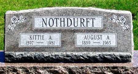 NOTHDURFT, AUGUST A. - Dundy County, Nebraska | AUGUST A. NOTHDURFT - Nebraska Gravestone Photos