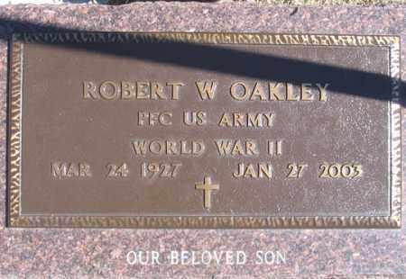 OAKLEY, ROBERT W. - Dundy County, Nebraska   ROBERT W. OAKLEY - Nebraska Gravestone Photos
