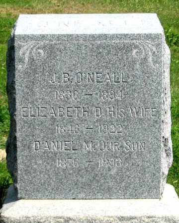 MILLER O'NEALL, ELIZABETH D. - Dundy County, Nebraska | ELIZABETH D. MILLER O'NEALL - Nebraska Gravestone Photos