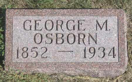 OSBORN, GEORGE M., SR,. - Dundy County, Nebraska | GEORGE M., SR,. OSBORN - Nebraska Gravestone Photos