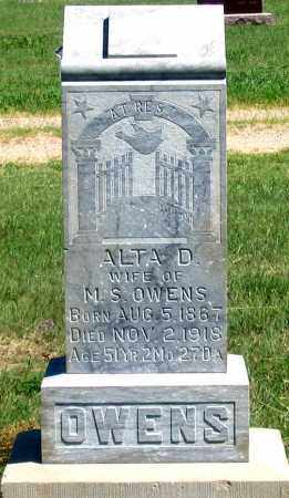 OWENS, ALTA D. - Dundy County, Nebraska | ALTA D. OWENS - Nebraska Gravestone Photos
