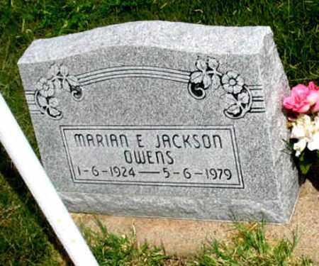 JACKSON OWENS, MARIAN E. - Dundy County, Nebraska   MARIAN E. JACKSON OWENS - Nebraska Gravestone Photos