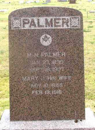 PALMER, MARY J. - Dundy County, Nebraska | MARY J. PALMER - Nebraska Gravestone Photos