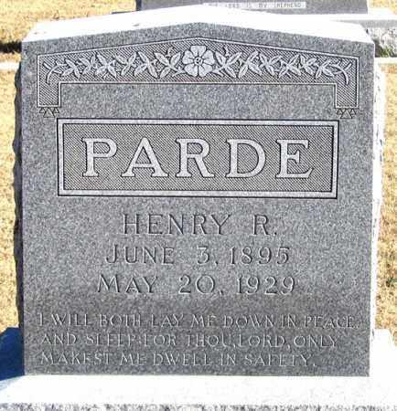 PARDE, HENRY R. - Dundy County, Nebraska   HENRY R. PARDE - Nebraska Gravestone Photos