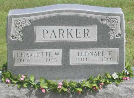 PARKER, CHARLOTTE W. - Dundy County, Nebraska | CHARLOTTE W. PARKER - Nebraska Gravestone Photos