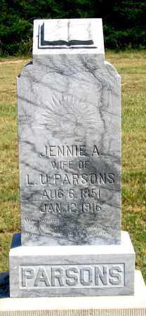 PARSONS, JENNIE A. - Dundy County, Nebraska   JENNIE A. PARSONS - Nebraska Gravestone Photos