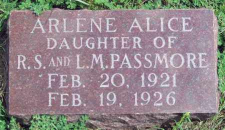 PASSMORE, ARLENE ALICE - Dundy County, Nebraska | ARLENE ALICE PASSMORE - Nebraska Gravestone Photos