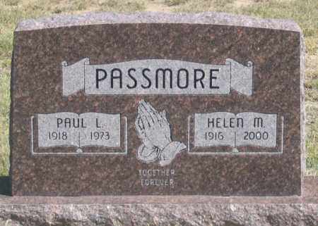 PASSMORE, PAUL L. - Dundy County, Nebraska | PAUL L. PASSMORE - Nebraska Gravestone Photos
