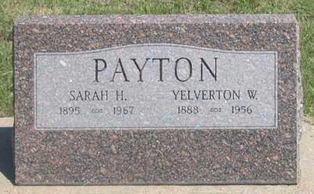 PAYTON, YELVERTON W. - Dundy County, Nebraska | YELVERTON W. PAYTON - Nebraska Gravestone Photos