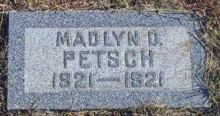 PETSCH, MADLYN D. - Dundy County, Nebraska | MADLYN D. PETSCH - Nebraska Gravestone Photos