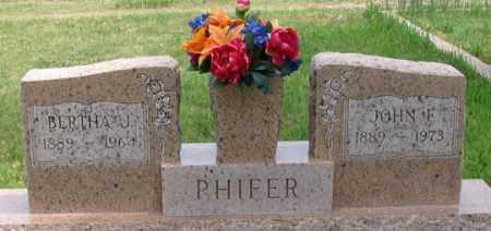 PHIFER, BERTHA J. - Dundy County, Nebraska   BERTHA J. PHIFER - Nebraska Gravestone Photos