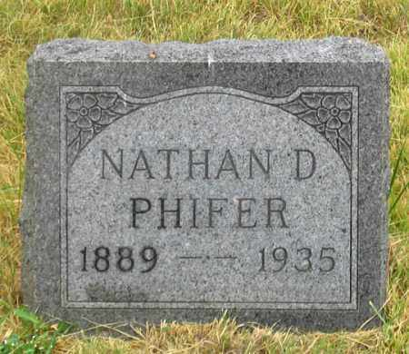 PHIFER, NATHAN D. - Dundy County, Nebraska | NATHAN D. PHIFER - Nebraska Gravestone Photos