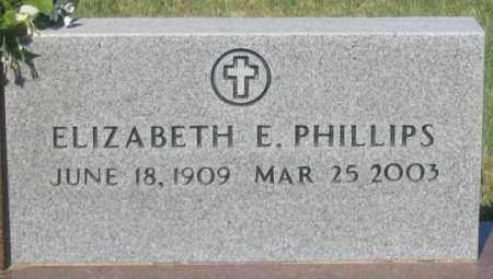 MANNING PHILLIPS, ELIZABETH E. - Dundy County, Nebraska | ELIZABETH E. MANNING PHILLIPS - Nebraska Gravestone Photos