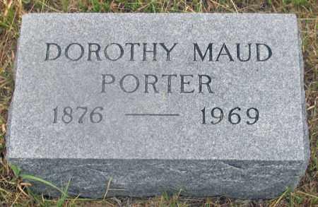 PORTER, DOROTHY MAUD (MAUDE ?) - Dundy County, Nebraska | DOROTHY MAUD (MAUDE ?) PORTER - Nebraska Gravestone Photos