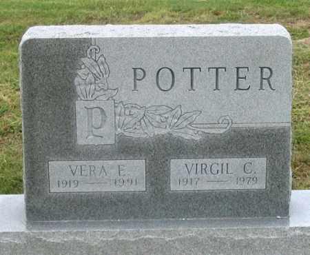 POTTER, VIRGIL C. - Dundy County, Nebraska | VIRGIL C. POTTER - Nebraska Gravestone Photos