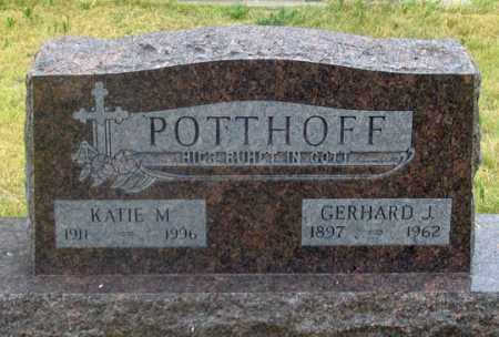 POTTHOFF, KATIE M. - Dundy County, Nebraska | KATIE M. POTTHOFF - Nebraska Gravestone Photos