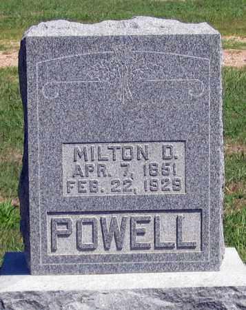 POWELL, MILTON D. - Dundy County, Nebraska | MILTON D. POWELL - Nebraska Gravestone Photos