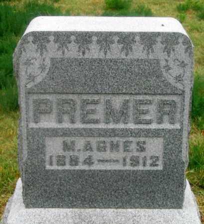 PREMER, MARY AGNES - Dundy County, Nebraska | MARY AGNES PREMER - Nebraska Gravestone Photos