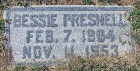 PRESNELL, BESSIE - Dundy County, Nebraska   BESSIE PRESNELL - Nebraska Gravestone Photos