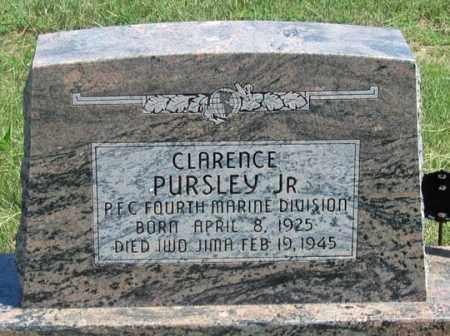 PURSLEY, CLARENCE, JR. - Dundy County, Nebraska | CLARENCE, JR. PURSLEY - Nebraska Gravestone Photos