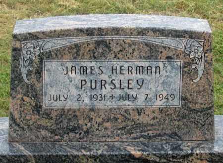 PURSLEY, JAMES HERMAN - Dundy County, Nebraska | JAMES HERMAN PURSLEY - Nebraska Gravestone Photos