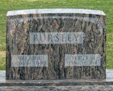 PURSLEY, MARJORIE F. - Dundy County, Nebraska   MARJORIE F. PURSLEY - Nebraska Gravestone Photos