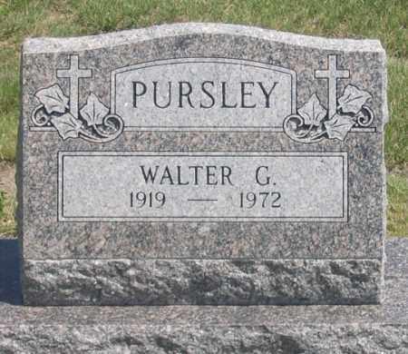 PURSLEY, WALTER G. - Dundy County, Nebraska | WALTER G. PURSLEY - Nebraska Gravestone Photos