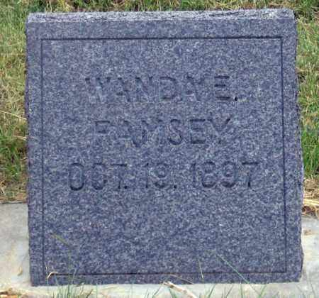 RAMSEY, WANDA E. - Dundy County, Nebraska   WANDA E. RAMSEY - Nebraska Gravestone Photos