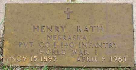 RATH, HENRY - Dundy County, Nebraska | HENRY RATH - Nebraska Gravestone Photos