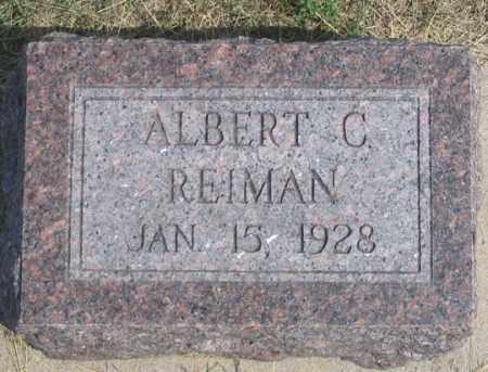 REIMAN, ALBERT C. - Dundy County, Nebraska   ALBERT C. REIMAN - Nebraska Gravestone Photos