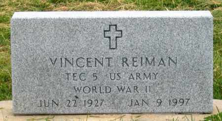 REIMAN, VINCENT - Dundy County, Nebraska | VINCENT REIMAN - Nebraska Gravestone Photos