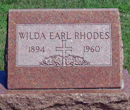 RHODES, WILDA - Dundy County, Nebraska | WILDA RHODES - Nebraska Gravestone Photos
