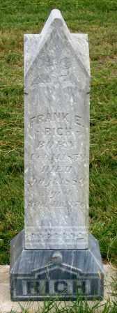 RICH, FRANK E. - Dundy County, Nebraska | FRANK E. RICH - Nebraska Gravestone Photos