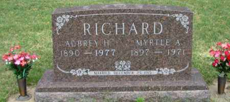 RICHARD, AUBREY H. - Dundy County, Nebraska | AUBREY H. RICHARD - Nebraska Gravestone Photos