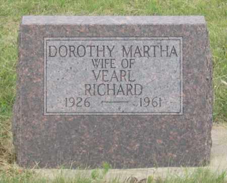 RICHARD, DOROTHY MARTHA - Dundy County, Nebraska | DOROTHY MARTHA RICHARD - Nebraska Gravestone Photos