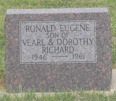 RICHARD, RONALD EUGENE - Dundy County, Nebraska | RONALD EUGENE RICHARD - Nebraska Gravestone Photos