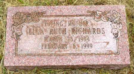 WALL RICHARDS, ELLA RUTH - Dundy County, Nebraska | ELLA RUTH WALL RICHARDS - Nebraska Gravestone Photos