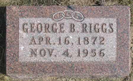 RIGGS, GEORGE B. - Dundy County, Nebraska   GEORGE B. RIGGS - Nebraska Gravestone Photos