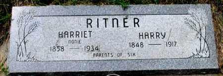 WISE RITNER, HARRIET - Dundy County, Nebraska   HARRIET WISE RITNER - Nebraska Gravestone Photos