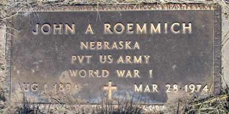 ROEMMICH, JOHN A., JR. - Dundy County, Nebraska   JOHN A., JR. ROEMMICH - Nebraska Gravestone Photos