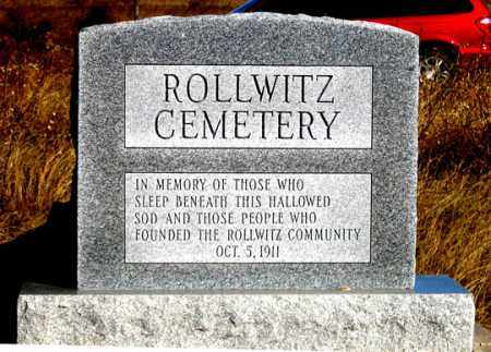 ROLLWITZ, MONUMENT SOUTH SIDE - Dundy County, Nebraska | MONUMENT SOUTH SIDE ROLLWITZ - Nebraska Gravestone Photos