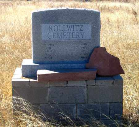 *ROLLWITZ MONUMENT, NORTH SIDE - Dundy County, Nebraska | NORTH SIDE *ROLLWITZ MONUMENT - Nebraska Gravestone Photos
