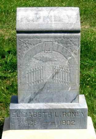 RONEY, ELIZABETH L. - Dundy County, Nebraska | ELIZABETH L. RONEY - Nebraska Gravestone Photos