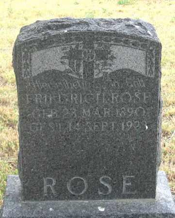 ROSE, FREDERICH C. H. - Dundy County, Nebraska | FREDERICH C. H. ROSE - Nebraska Gravestone Photos