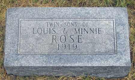 ROSE, INFANT TWIN SONS - Dundy County, Nebraska | INFANT TWIN SONS ROSE - Nebraska Gravestone Photos