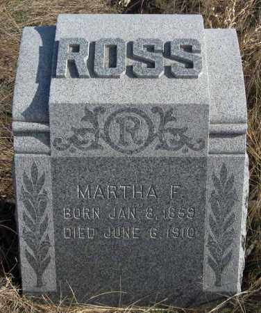 ROSS, MARTHA F. - Dundy County, Nebraska | MARTHA F. ROSS - Nebraska Gravestone Photos